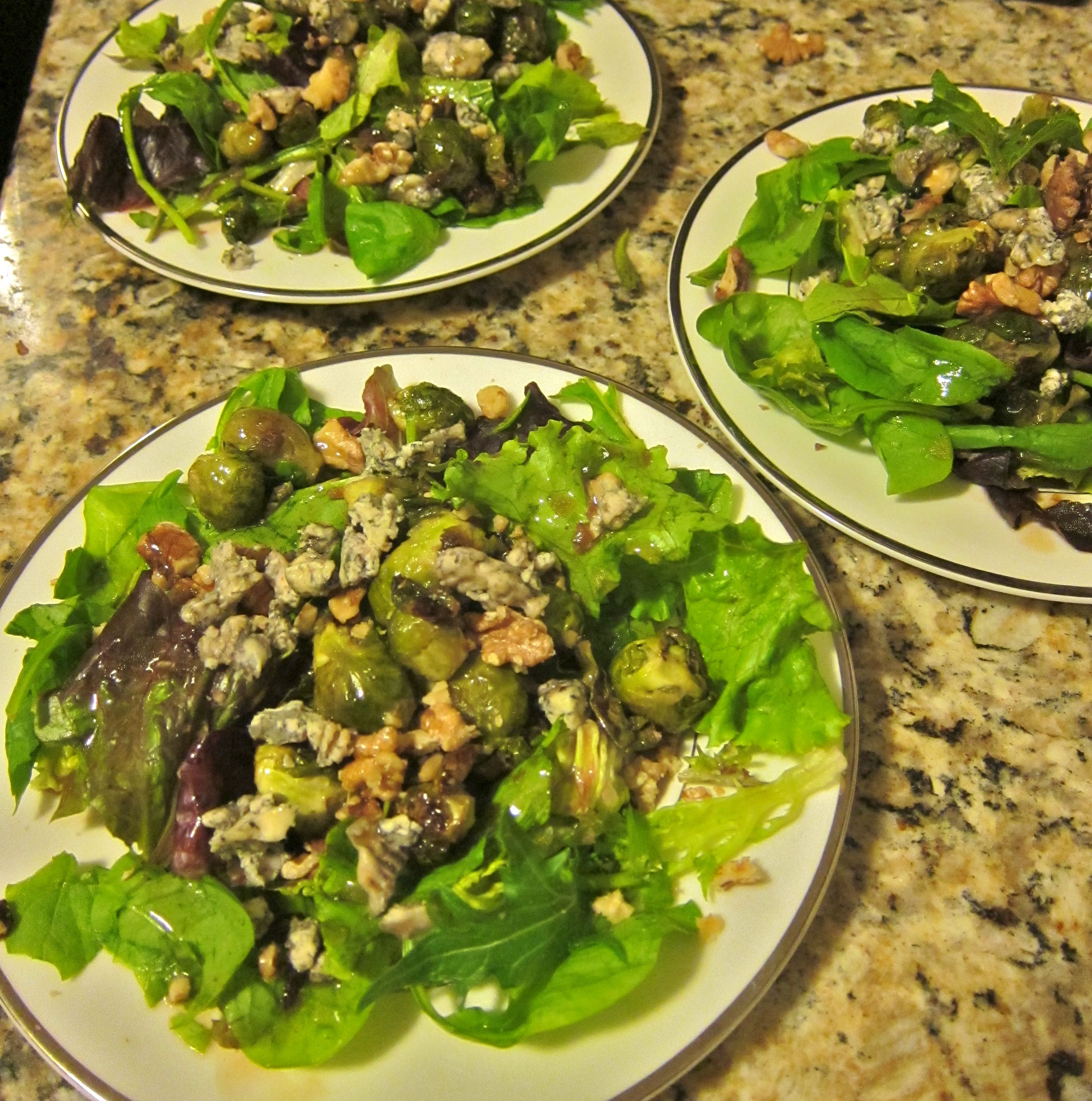 Brussels Sprouts and Walnut Salad
