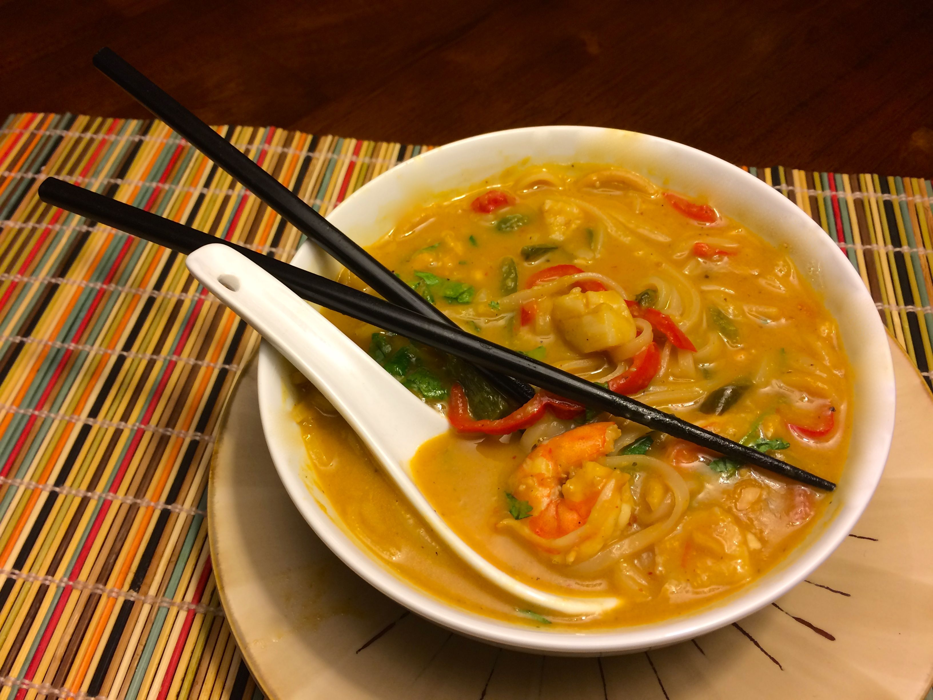 how to cook scallops in noodle soup