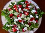Arugula  with Strawberries, Sunflower Seeds, and Chèvre