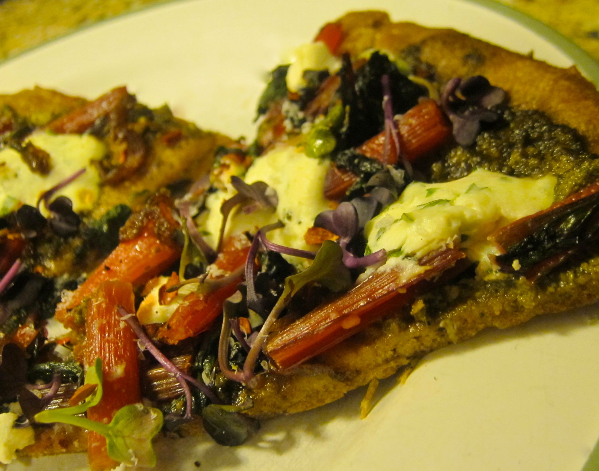 Pesto Pizza with Red Chard, Ricotta, and Caramelized Onions   The ...