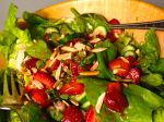 Spring Greens with Strawberries and Toasted Almonds