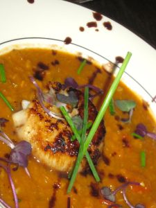 Moroccan Soup with Scallop
