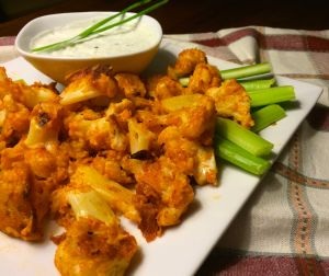Buffalo Cauliflower and Blue Cheese Dip