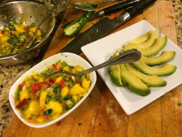 Mango Salsa and Avocado