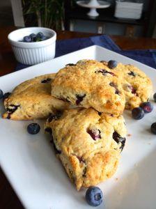Blueberry Ginger Scones