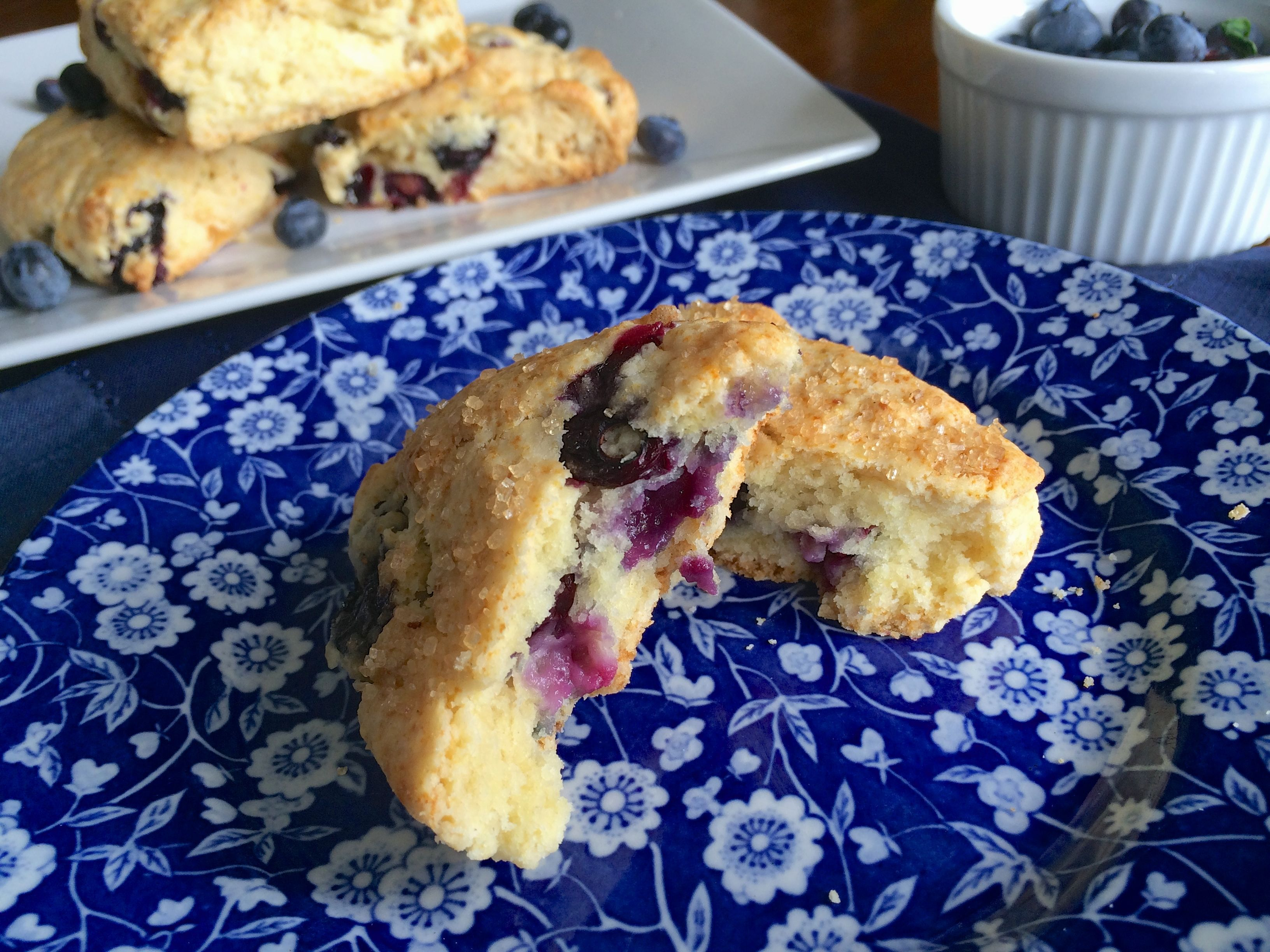 Blueberry Scone Plated