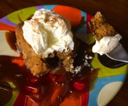 Pumpkin Bread Pudding with Caramel