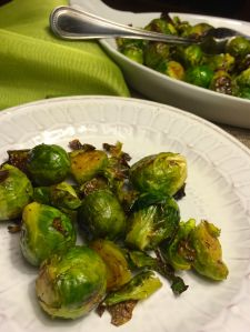Caramelized Brussels Sprouts Plated