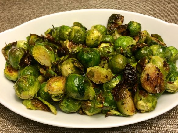Roasted Brussels Sprouts Plated