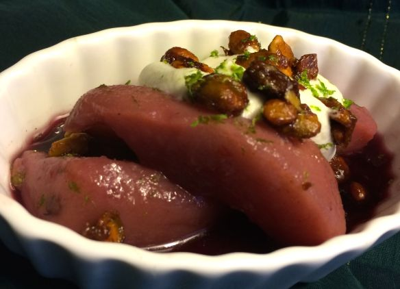 Poached Pears and Goat Cheese Cream | PK Way