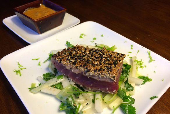 Seared Tuna and Satay Sauce | The Taste