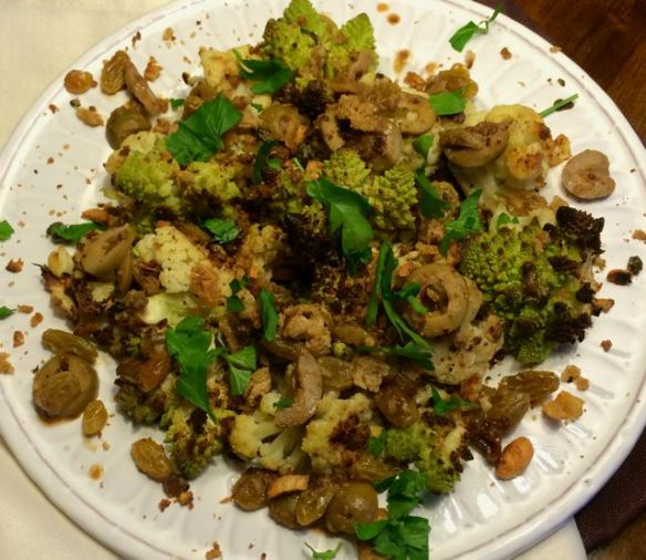 Sicilan Roasted Cauliflower