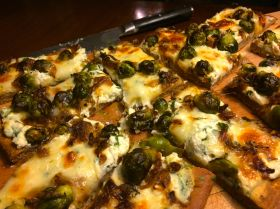 Caramelized Onion and Brussels Sprouts Pizza | PK Way