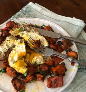Sweet Potato Hash and Egg | PK Newby