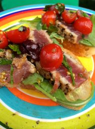 Tuna Crostini with Green Goddess | #pkway