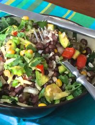Mexican Rice and Bean Bowl | #pkway